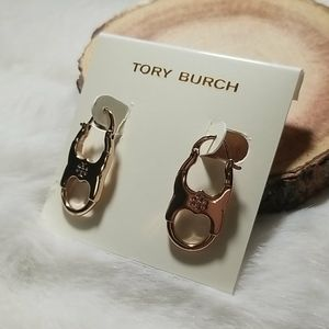 Tory Burch Gemini hoop earrings